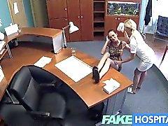 lesbian oral sex licking vagina hospital nurse
