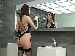 anal blowjob brünett nahaufnahme lecken