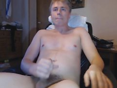 Danish Guy - Horny masturbates, moans and cums in an intense