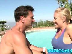arsch big boobs blondine hd massage