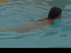 retro swimming-pool busty-brunette french-maid missionary-pounding