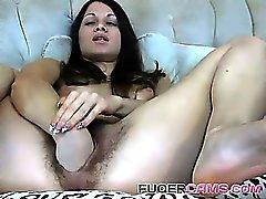 amateur brunette masturbation solo toys