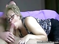 blonde blowjob handjob hot mom mature