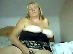 bbw big boobs blonde masturbation solo