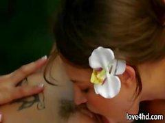 baby brünett glanz lesbisch massage