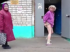 old young russian striptease