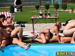 bisexual blowjob group sex hardcore outdoor