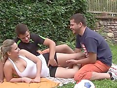 bisexual hardcore hd outdoor threesome