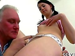 hardcore old and young schoolgirl teacher blowjob
