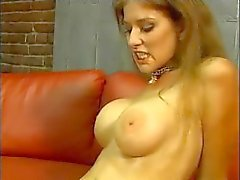 brunette big-tits huge-tits blowjob