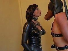 femdom latex spanking