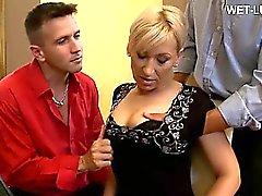 anal blonde blowjob gangbang