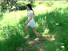 boquete morena ao ar livre