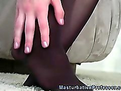 brunette fetish masturbation nylon