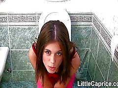 little caprice bathroom blowjob brunette caucasian