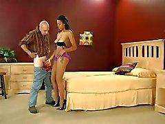 fetish footjob stockings ebony