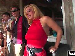 big boobs blonde brunette cumshot