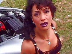 sexo anal grandes tetas cabello negro coche cum shot