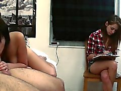 big boobs blowjob brunette college