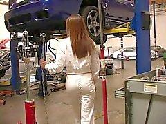 car garage babe panties