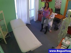 ass brunette doctor hidden cam amateur