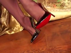 foot fetish masturbation redheads stockings