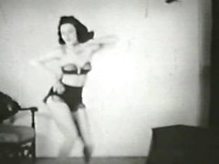 black-and-white dancing stripping blonde