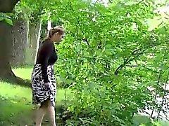 brunette fetish milf outdoor public