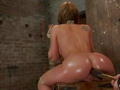 Amy Brooke has her amazing gaping ass fucked & hooked.