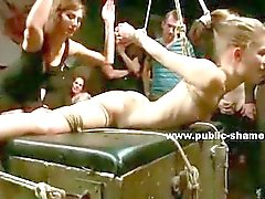 public spanking outdoor bondage