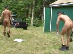 buddies -(©¿©)- redneck twins target practice