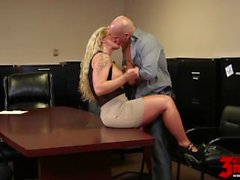 Busty Milf Banged In The Office