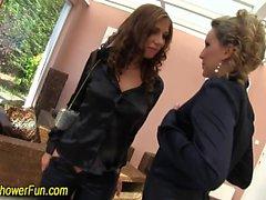 blonde brunette fetish hd lesbian