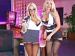 Danni Harwood and Lucy Zara in the RLC Office
