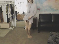 amateur ass babe stockings striptease