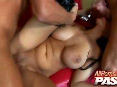 big boobs blowjob brunette facial hardcore