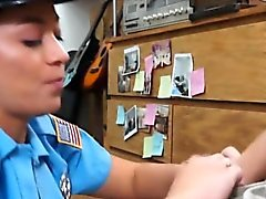 Police officer with big booty gets screwed by nasty pawn guy