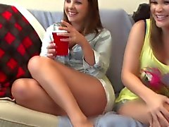 blonde brunette college group sex