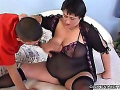 Mature Fatty Seduces a Younger Guy