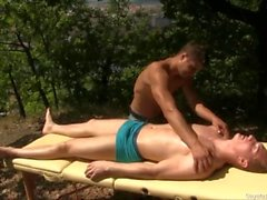 gay bareback blowjob jerking uncut cock amateur fore skin gaymassagetable bj oral masseur outside ass