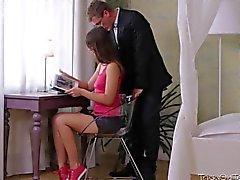 couple teen brunette skinny russian