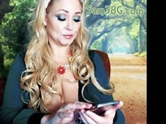 samantha 38g samantha38g chubby big boobs mature curvy blonde milf huge tits mom mother mild webcam cam