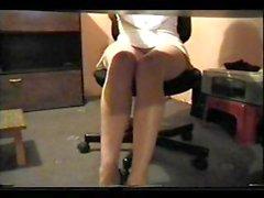 brunetta nylon calze upskirt