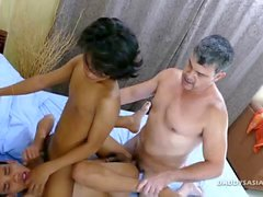 asian interracial bareback threesome fetish
