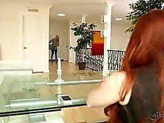 lezbiyen sarışın redhead vajina yalama
