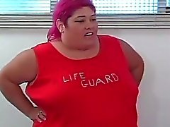 Fat beach patrol 2bbw colored hair try to get hard fucked
