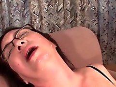bbw brunette lingerie masturbation mature