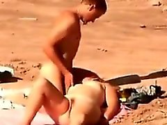 amateur beach blonde outdoor public