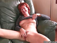 mature milf mom redhead