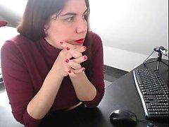 amateur big boobs brunette lingerie masturbation